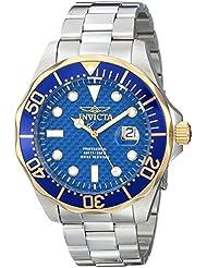 Invicta Mens 12566 Pro Diver Analog Display Swiss Quartz Silver Watch