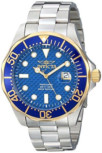 Invicta Men's 12566 Pro Diver Analog Display Swiss Quartz Silver Watch (Quartz Invicta Diver Grand)
