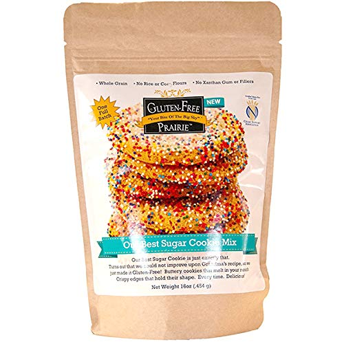 - Gluten Free Prairie Our Best Sugar Cookie Mix 16 Ounce (Pack of 1) Certified Gluten Free, Purity Protocol, All Natural Whole Grain, No Rice Flours, High in Protein and Fiber