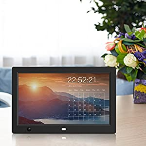Digital Photo Frame - RUPPOLAR HD Digital Picture Frame 12 inch Motion Sensor Remote Control/Slideshow/8GB Auto-rotate Function/Calendar Function/MP3/Photo/Video Player