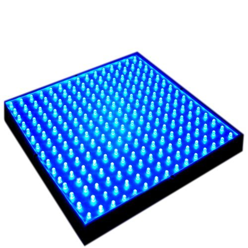 HQRP Blue Grow LED Light Panel for Vegetative Glowth Promotion 14W 255 blue 460 nm LED + Hanging Kit + UV Meter