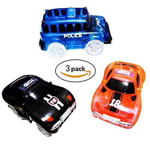 Magic Track Toys Cars Replacement Light Up Racing Track Accessories Compatible with Most of Neo and Magic Track with Flashing LED Lights Glow in The Dark Best Toys for Boys - One Light Neo Classic