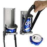 Aynoo 12 oz Can Crusher for Recycling/Bottle Opener Smasher, Crushes Soda Cans and Beer Cans Wall Mounted– Eco-Friendly Recycling Tool Heavy Duty Metal Can Crusher/Smasher (12oz Grey)