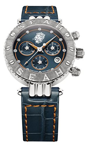 Seah-Galaxy-Zodiac-sign-Leo-38mm-Stainless-Steel-Swiss-Luxury-watch