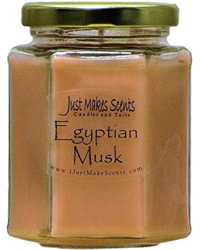 Just Makes Scents Egyptian Musk Scented Blended Soy Candles (8 oz) - Musk Candle