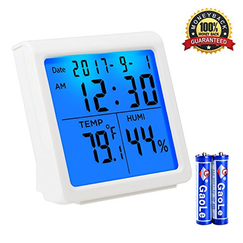 Price comparison product image Indoor Thermometer Digital Hygrometer Humidity Monitor with Table Standing and Timer Smart Thermometer Humidity with Backlight