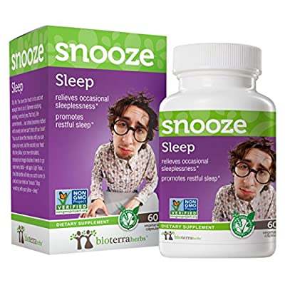 Sleep Snooze with Jujube and Turmeric by BioTerra Herbs (1g, 60 Capsules) Herbal Supplement