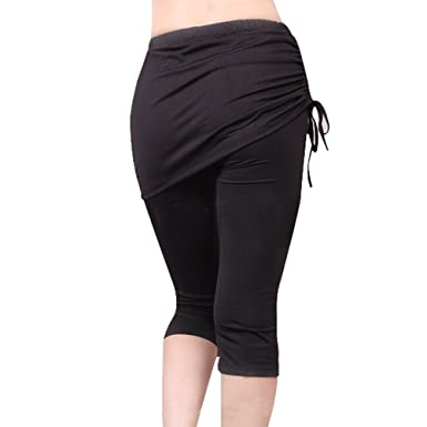 1797144588f0e2 New Amazon.com: GOGO TEAM Womens Yoga Pants Sport Running Wear Skirt PQ87