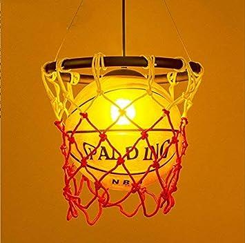 AOLI Lámpara de baloncesto de estilo industrial vintage, luz de ...