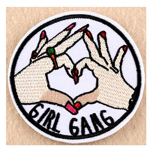 Girl Gang Embroidered Patch Iron-on or Sew-on Girl Power Series Emblem Badge Patches Jackets Sister Daughter BFF Emblem Badge -