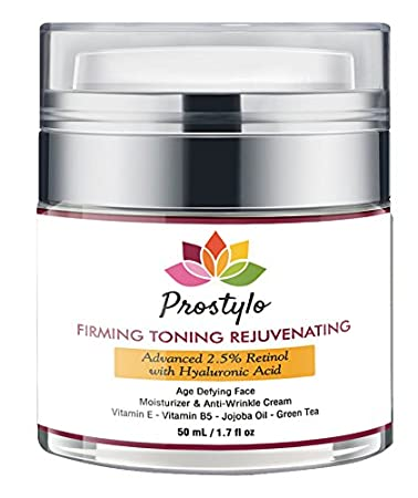 Health & Beauty 4 Oz 2.5% Retinol Moisturizer Cream For Face With Hyaluronic Acid