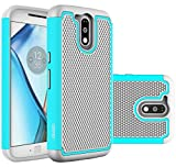 Moto G4 Case, Moto G4 Plus Case - OEAGO [Shockproof] [Impact Protection] Hybrid Dual Layer Defender Protective Case Cover for Motorola Moto G4 / G4 Plus (Moto G Plus, 4th Gen) - Mint