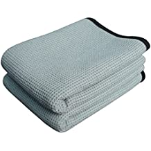 Gryeer Extra Large Microfiber Waffle Weave Drying Towel, Professional Grade Car Cleaning Detailing Cloth, Bigger and Thicker Than Normal Waffle Drying Towels, 400gsm, 40x28 inch, Gray