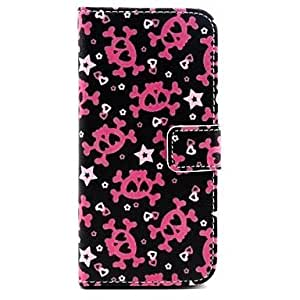 LCJ Lovely Skull Pattern PU Leather Full Body Case with Stand for iPhone 4/4S by ruishername