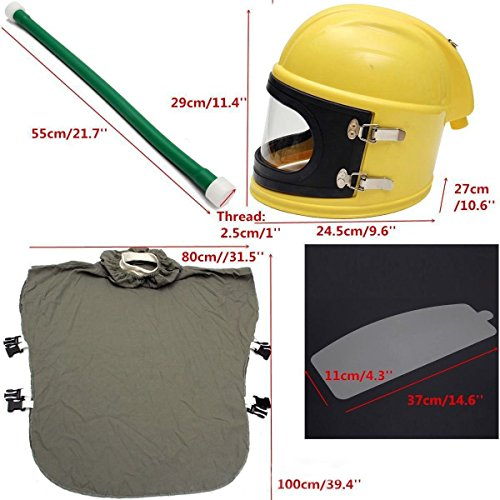 AIR FED Safety Sandblast Helmet Sand Blast Hood Protector for Sandblasting by BIC (Image #1)