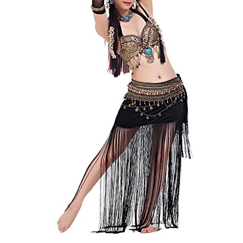 Belly Dancer Costume Ideas For Halloween (BellyLady Belly Dance Tribal Gypsy Costume, Belly Dance Bra & Skirt, Gift Idea)