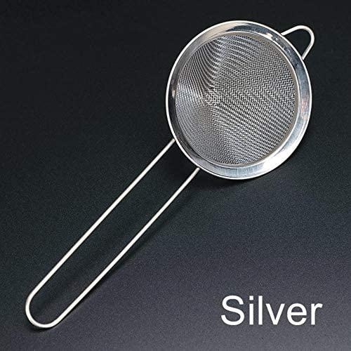 OHOME 1 PC 304 Stainless Steel Fine Mesh Strainer Cocktail Strainer Great for Removing Bits from Juice Julep Strainer Bar Tool,Silver
