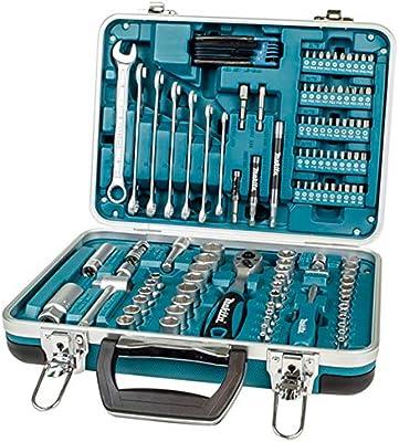 Makita 227 Piece Home Garage Repair Tool Box Kit Spanner Ratchet Socket Bit Set