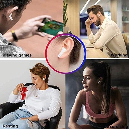 Wireless Earbuds Bluetooth 5.2 Headset Bluetooth Headphones with 35Hrs Charging Case,IPX7 Waterproof Earbuds Built-in Mic Single/Twin Mode,3-d Stereo Earphones,for Airpods/iOS/Android/Samsung