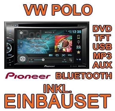 Vw Polo 6r Pioneer Avh X2600bt Dvd Tft Usb Mp3 Autoradio