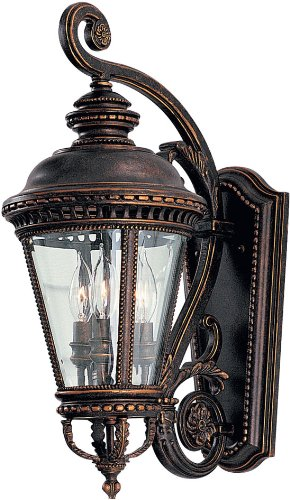 Murray Feiss OL1901GBZ, Castle Cast Aluminum Outdoor Wall Sconce Lighting, 180 Total Watts, Bronze