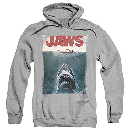 Jaws Shark Original Movie Poster Pullover Hoodie Sweatshirt & Stickers - Sweatshirt Shark Adult