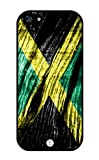 iZERCASE iPhone 5, iPhone 5S Case Jamaican Flag On Wood Pattern RUBBER CASE - Fits iPhone 5, iPhone 5S T-Mobile, Verizon, AT and T, Sprint and International