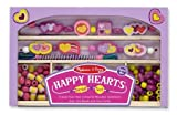: Melissa & Doug Happy Hearts Wooden Bead Set