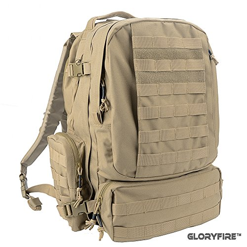GLORYFIRE Tactical Backpack 3 Day Assault Pack for Outdoor Hiking Camping Trekking Hunting