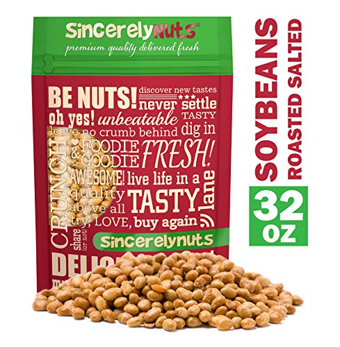 Sincerely Nuts Roasted Soybeans Salted (2 LB) - Healthy Fat - Vegan & Kosher - Easy Snack -Gluten-Free