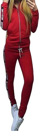 FSSE Women Print Hoodie Sweatshirt+Pants Slim Fit Casual Tracksuits Outfits