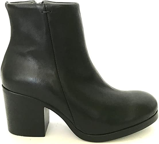 ZETA SHOES Ankle Boots Black Leather lace-up Boots MainApps