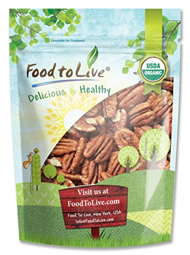 Food to Live Organic Pecans (Raw, No Shell) (12 Ounces) ()