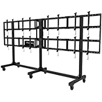 Portable Video Wall Cart2x2, 3x2 or 4x2 Configuration For 46 to 55 Displays