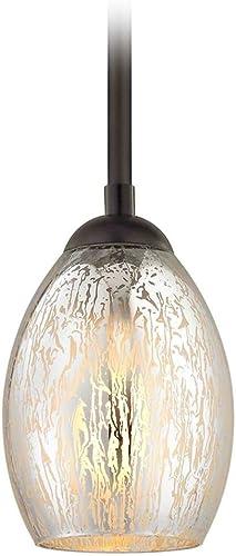 Bronze Mini-Pendant Light Mercury Glass Oblong
