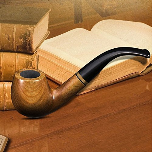 Ylyycc-green-sandalwood-bent-smoking-tobacco-pipe-with-filter-element-3-in-1-scraper-high-grade-gift-box