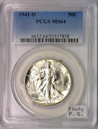1941 D Walking Liberty Half Dollar MS-64 PCGS