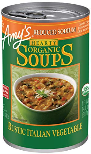 Amy's Reduced Sodium Soups, Hearty Rustic Italian Vegetable Soup, 14.0 Ounce ()