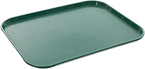 Fast Food Tray 14 x 18 Green Rectangular Polypropylene Serving Tray for Cafeteria, Diner, Restaurant, Food Courts