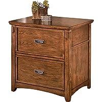 Ashley Furniture Signature Design - Cross Island File Cabinet - Rectangular - Medium Brown
