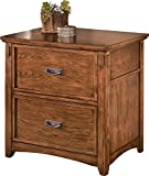 Ashley Furniture Signature Design - Cross Island File Cabinet - Rectangular - Medium Brown