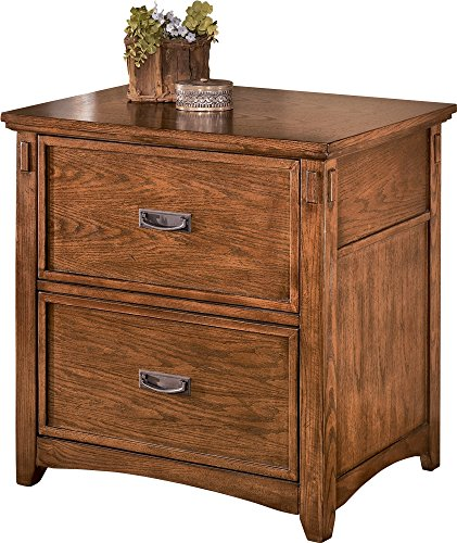 Mission Style 2 Drawer (Ashley Furniture Signature Design - Cross Island File Cabinet - Rectangular - Medium Brown)