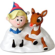 Hallmark Is This Your Snowbank? Rudolph The Red-Nosed Reindeer Ornament With Lights