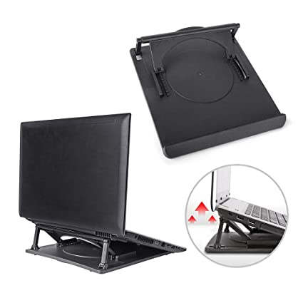 Computer & Office Practical Laptop Holder Cooling 360 Degree Rotation Stand Mount Notebook Table Desk Swivel Multi-functional Laptop Accessories