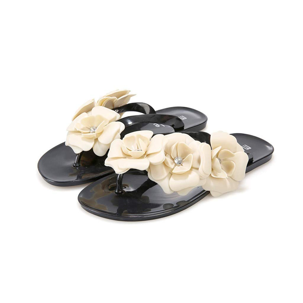 757df6bf47407 Amazon.com: DOMUMY Flat Sandals for Women, Women Slippers Candy ...