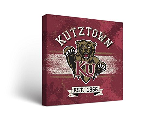 Victory Tailgate Kutztown University KU Golden Bears Canvas Wall Art Banner Design (12x12)