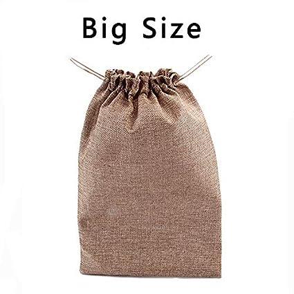 Corazón grabado yute saco bolsa lazo boda regalo bolsas dulces bolsas paquete de 4 piezas