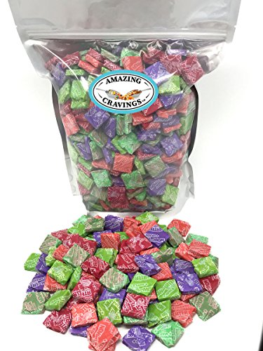 Now and Later Assorted Flavor Fruit Chews, 4 LB Bulk Bag, by Amazing (4 Piece Wholesale Moisture)