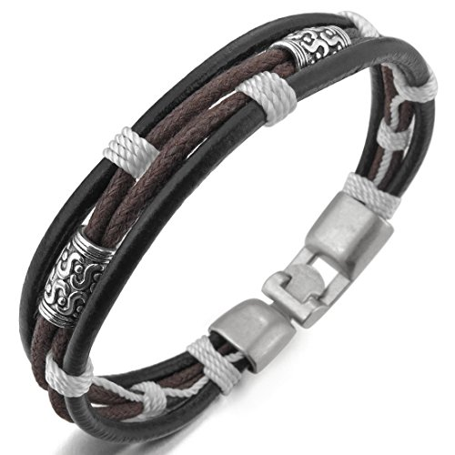 INBLUE Womens Genuine Leather Bracelet