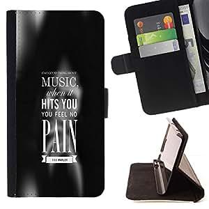 Momo Phone Case / Flip Funda de Cuero Case Cover - MÚSICA le golpea - Apple Iphone 5C